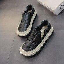 Primavera nueva zapatos de cuero hechos a mano arte plataforma retro zapatos  planos de cabeza redonda ab577d74d39f