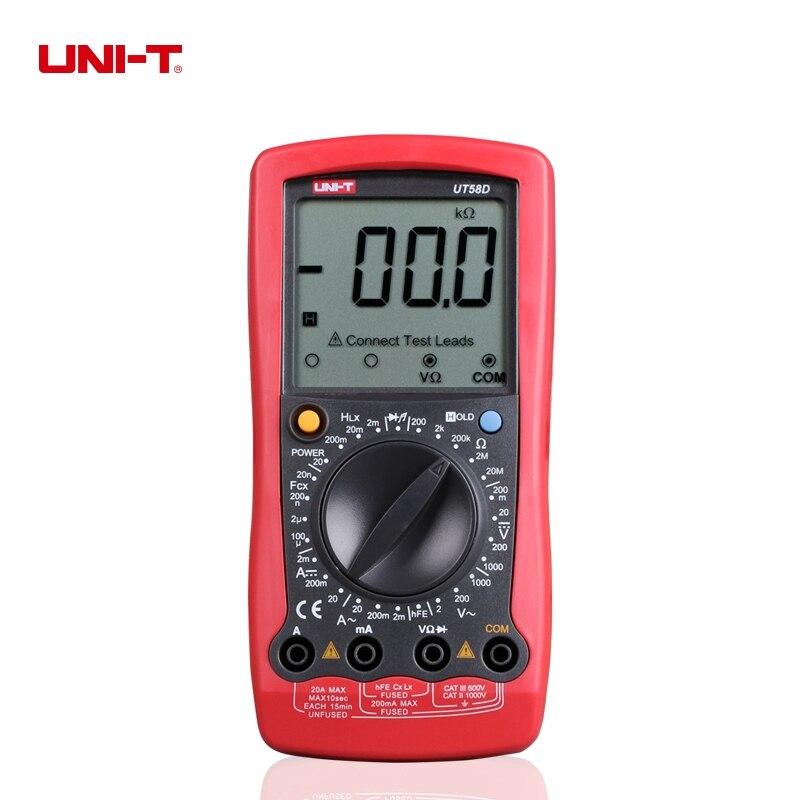 UNI-T UT58D LCD Digital Multimeter AC/DC Voltage Current,Resistance,Capacitance,Inductance Tester