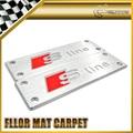 Car-styling For Audi S Line Aluminium Floor Mat Carpet Carmats Emblem Universal Fitment 110 x 35 mm