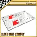 Car-styling Para Audi S Line Aluminio Floor Mat Alfombra Carmats Emblema Universal de Montaje 110x35mm
