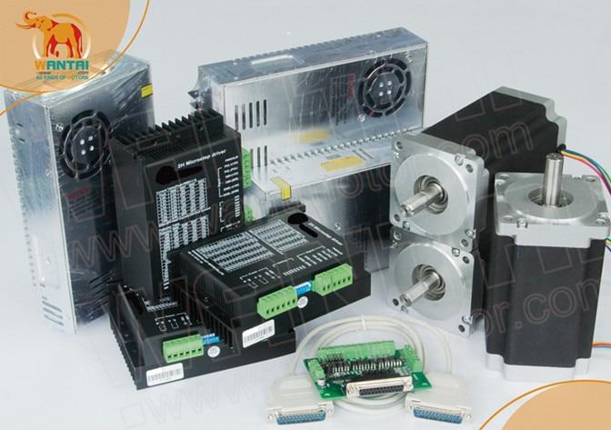 Navio A Partir DE! CNC Wantai Eixo Stepper Motor 1232oz-in WT86STH118-6004A Nema34 3 + Driver DQ860MA 80 V 7.8A 256 Micro