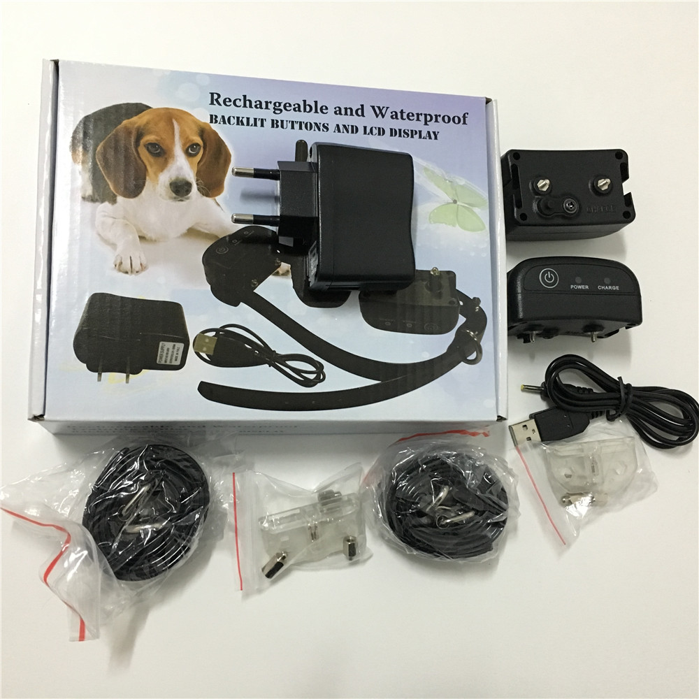 20set/lot * 300M Remote Rechargeable Waterproof LCD 100LV Level Shock Vibra Dog Pet Training Collar For 1 Dog PET 998DB -1 dog care training collar