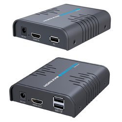 LKV373KVM 120 м 394ft IP HDMI KVM удлинитель конвертер по Cat5 кабель сетевой переключатель с USB Тип для клавиатуры мыши для управления