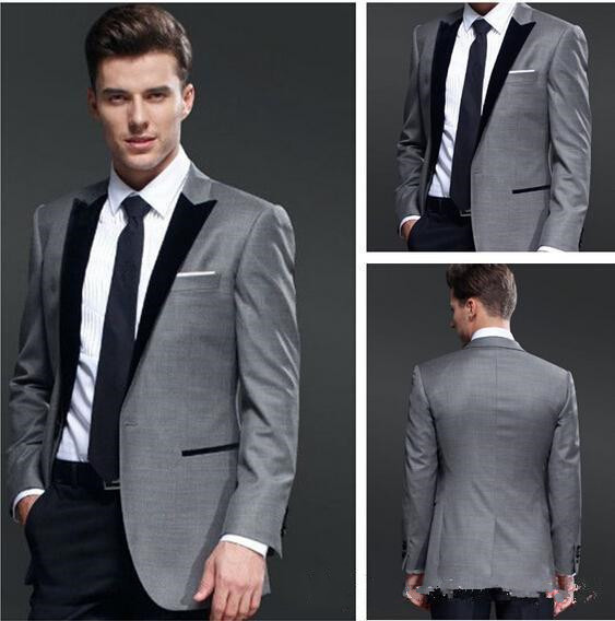Wedding Suits For Abroad Groom: Customize The Two Buttons Groomsman Best Man Suit Formal