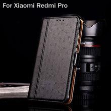 for xiaomi redmi pro case Luxury Ostrich Leather with Stand fashion hit color Cases for Xiaomi Redmi Pro funda Flip cover coque