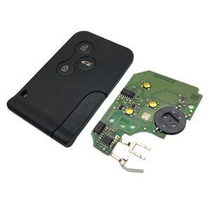 Image 5 - חדש 1 Pc רכב 3 כפתור 433Mhz 7947 שבב עם חירום הכנס להב חכם מרחוק מפתח עבור רנו מגאן סניק 2003 2008 כרטיס