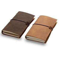 2019 planificador diario de viaje diario cuaderno de cuero genuino vintage libro sketchbook cadernos de la escuela suministros de papelería