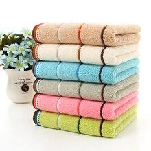 Быстрое высыхание хлопчатобумажные Полотенца полоса после ванны, для лица и рук ткань Ванная комната Абсорбент 35*75/25*50 см дома подарок на Рождество