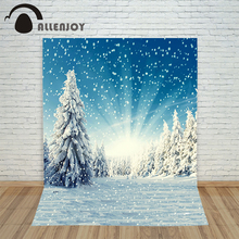 5*7ft Snow Background Winter Photography Backdrops Christmas Backgrounds for Photo Studio Mountain CM-6425