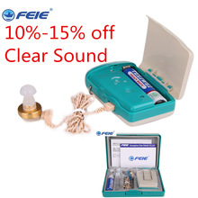 Grosir 100pcs / lot, FEIE S-16 Pocket Hearing Aid, Alat Bantu Dengar Amplifier, Aide pendengaran Murah, Sound Amplifier Produsen