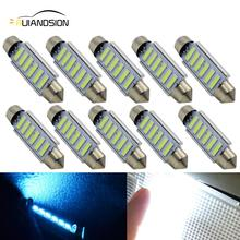 10pcs c5w led canbus No error 12V Ice Blue 6smd 7014 car styling Interior Light auto accessories Festoon 44mm