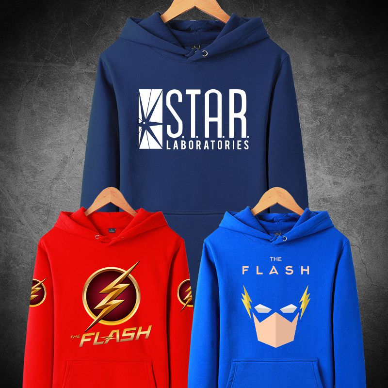 [XHTWCY] Mens Casual The Flash Hoodies Printed Cotton coat women man Pullover Sweatshirts Top Cosplay Costume