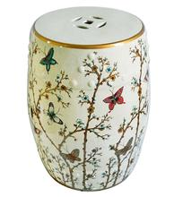 Jingdezhen Indoor Ceramic Antique Drum Porcelain Garden Stool Glazed Hand  Painted Round Ceramic Porcelain Chinese Garden Stools