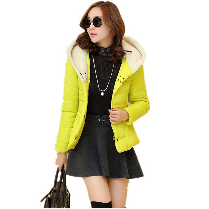 741e542d812 Зимняя куртка Для женщин хороший Для женщин куртка повседневная верхняя  одежда с капюшоном куртка на подкладке из хлопка короткий параграф.