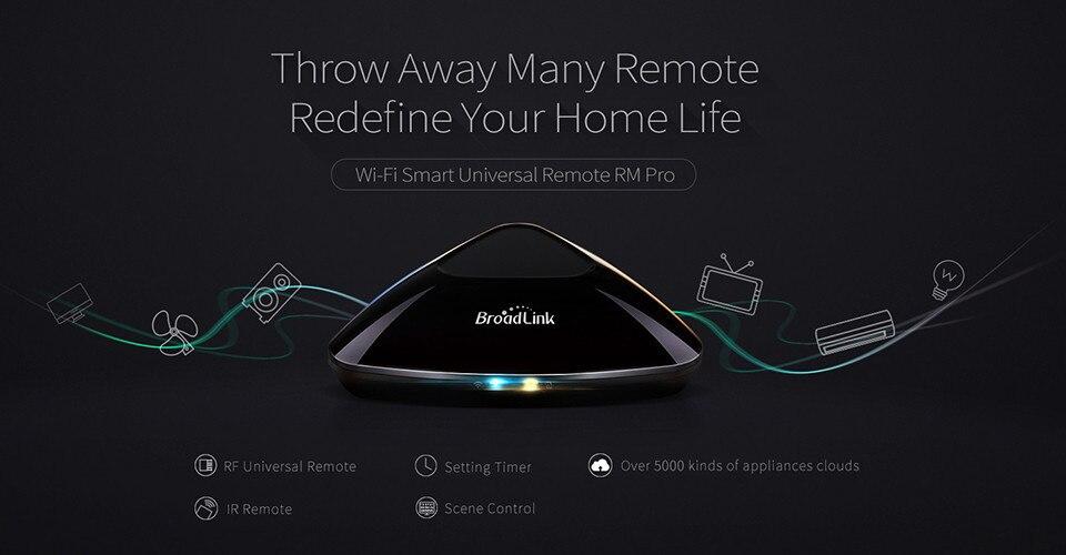 2017 Broadlink RM03 RM PRO Uniwersalny Inteligentny Pilot Smart Home Automation WiFi + IR + RF Przełącznik Poprzez IOS Android Telefon 4