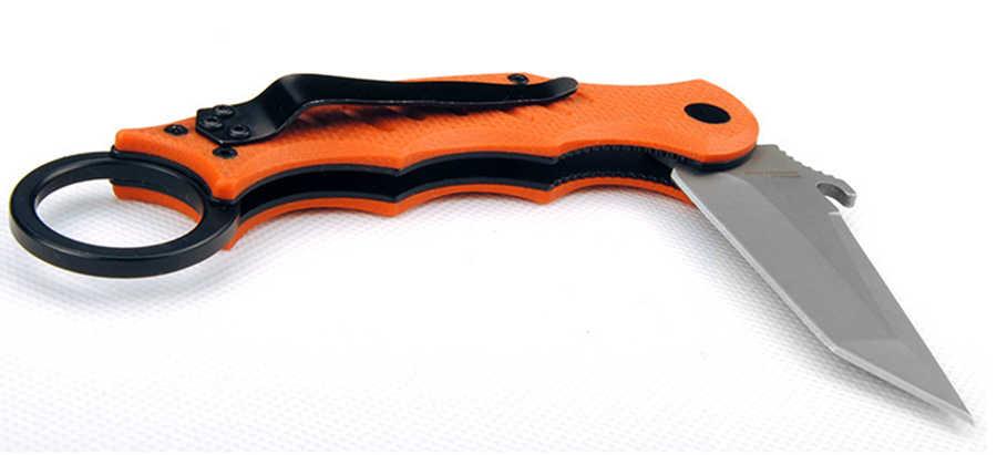 Formação G10 handle Outdoor Camping Bolso faca Dobrável 440 Cblade Frutas Facas de Caça Resgate Sobrevivência EDC Ferramentas Manuais