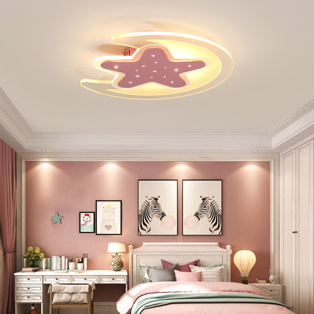 Ultra thin creative simple boy girl bedroom lights stars moon led ...
