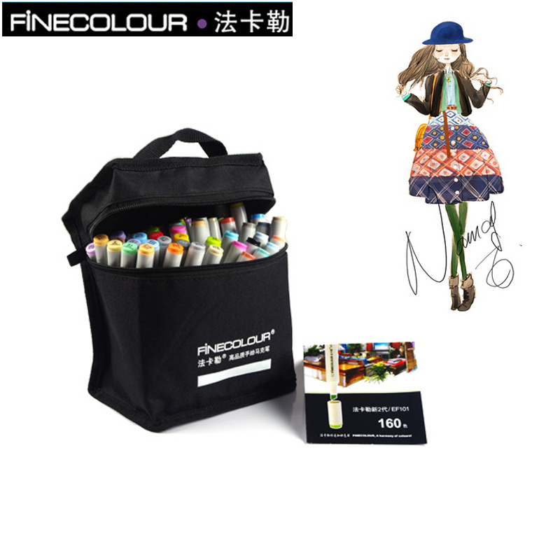 FINECOLOUR 36/48 Alcohol Based Marker Double Head Brush Art Sketch Marker Student Painting Sketch Drawing Marker Pen student attitude towards web based learning resources
