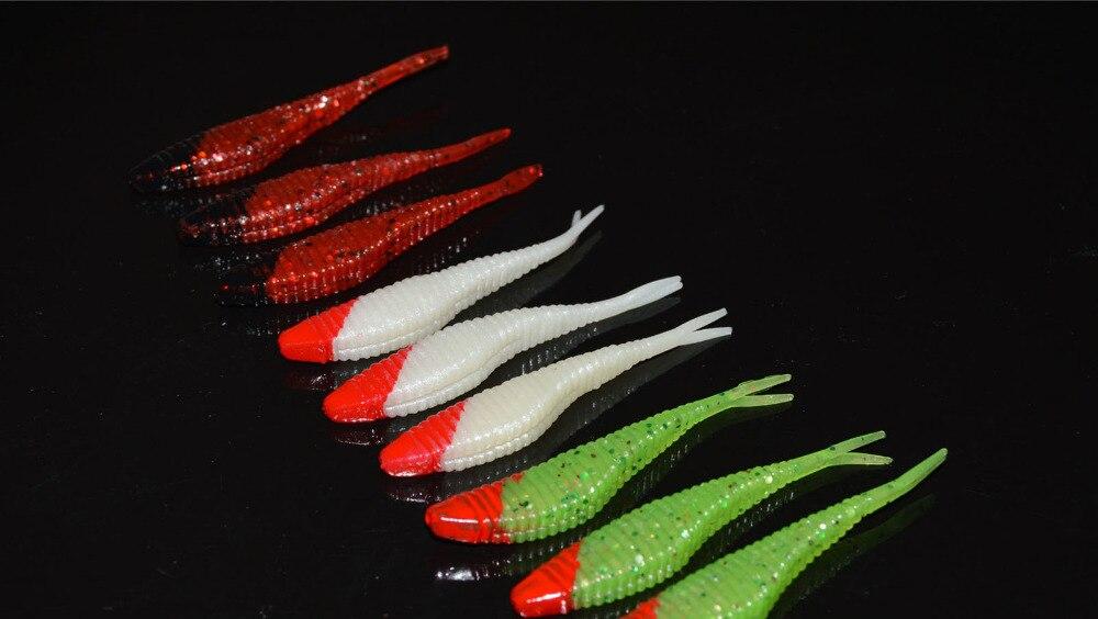 15 pièces pêche leurre souple gabarit réplique poisson leurre appâts crochet 7 cm/2.5g livraison gratuite