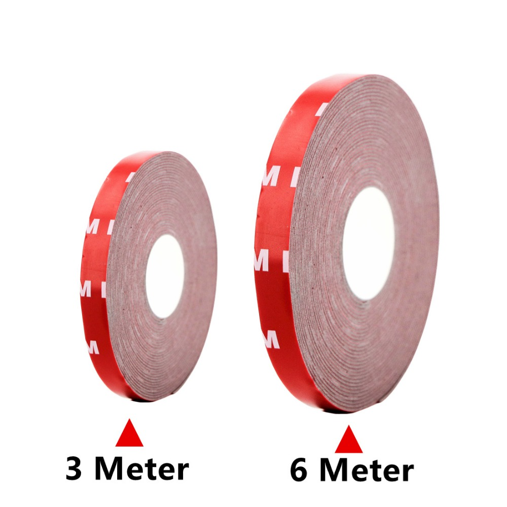 3 Meter 6 M Tape Size 10mm double-sided adhesive adhesive acrylic foam tape for 5050 RGB LED strips Flexible Light neon Lights ywxlight double sided rgb led lightsaber 2pcs