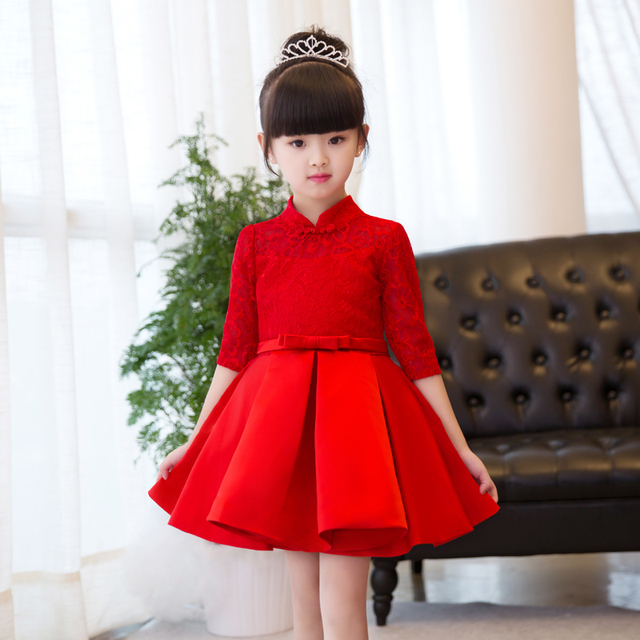 c4b4cb412 Vestido de niña de flores rojas vestido de novia de princesa vestidos de  tul de manga