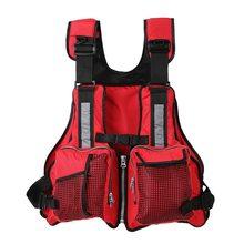 Lixada Adult Swimming Life Vest Multi Pockets Fishing Jacket Sailing Kayaking Boating Waistcoat Rescue
