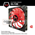 ALSEYE CL-120-Red led 120mm fan for computer case 1800RPM 3pin 12v fan radiator for cpu cooler 11 blades cooling fan