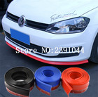 2.5M/ROLL 62MM WIDTH Car Front Bumper Lip Splitter Protector Body Spoiler Valance Chin Rubber Black / red / blue