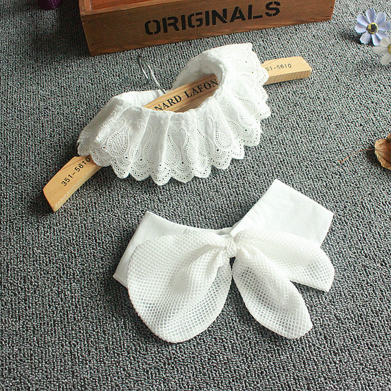 [La MaxPa] 2018 New Staccabile colletto bianco abbigliamento Donna accessori Falso Collare Staccabile Bianco Corbata kraagje nep dames