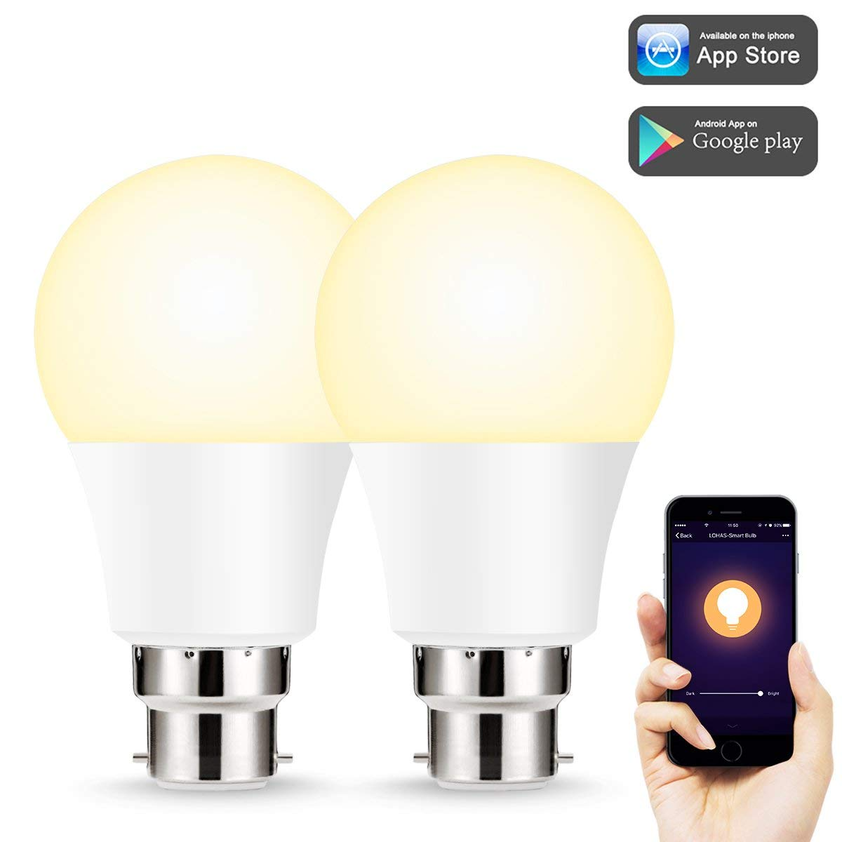 Led B22 Smart Bulb Wifi Light Bulb Compatible With Amazon