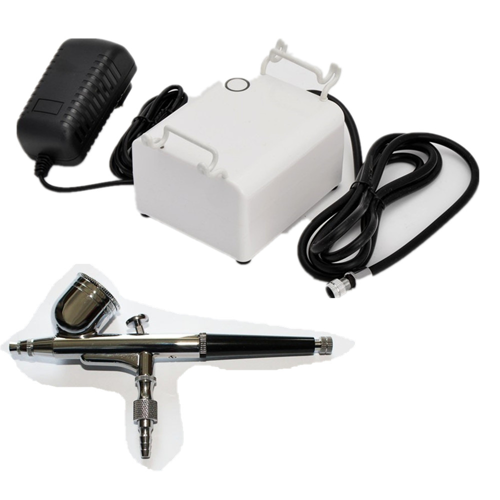 ABEST Dual action Gravity feed airbrush Real Auto start Auto stop function Led touch screen compressor kit Spraying