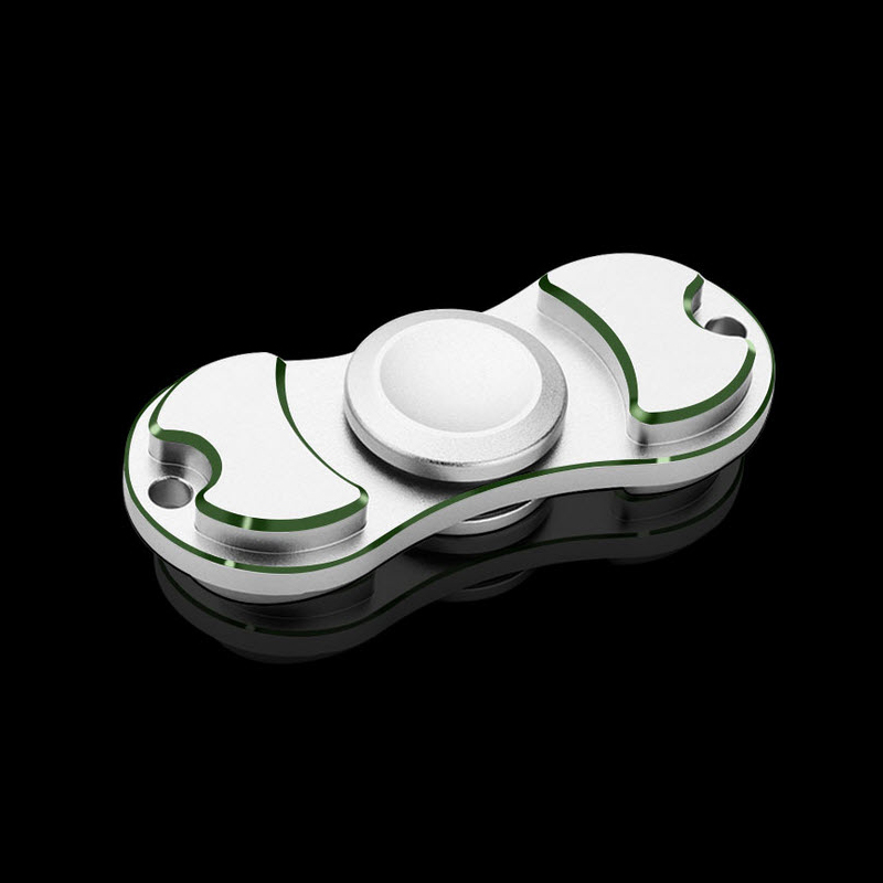 Tri-Spinner Fidget Toy Black Gold Sliver Alloy EDC Hand Spinner For Autism ADHD Rotation Time Long Anti Stress Toys Hobbies