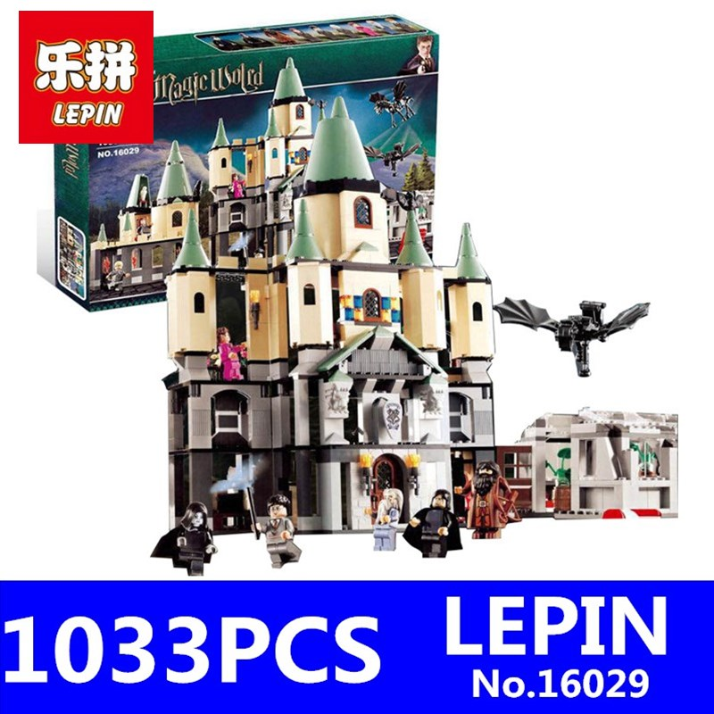 Harry Potter Bricks Magic Hogwort Castle Set LEPIN 16029 Movie Series Children Educational Building Blocks Bricks Toys Gift 5378 10551 elves ragana s magic shadow castle building blocks bricks toys for children toys compatible with lego gift kid set girls