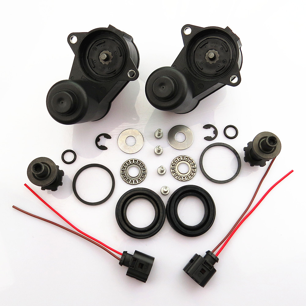 SCJYRXS 12 Teeth Rear Wheel Brake Motor + Bearing Screw Kit + Cable Pigtail Plug 32332267 1J0973722A For Q3 Passat B6 B7 Tiguan