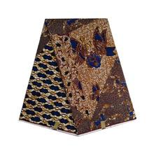 2019 african wax prints fabric batik dutch block new design soft and breathable V-L