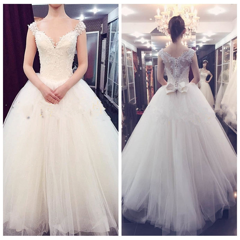 Wedding Ball Gowns Sweetheart Neckline: Cap Sleeve Sweetheart Neckline Sheer Back Ball Gown