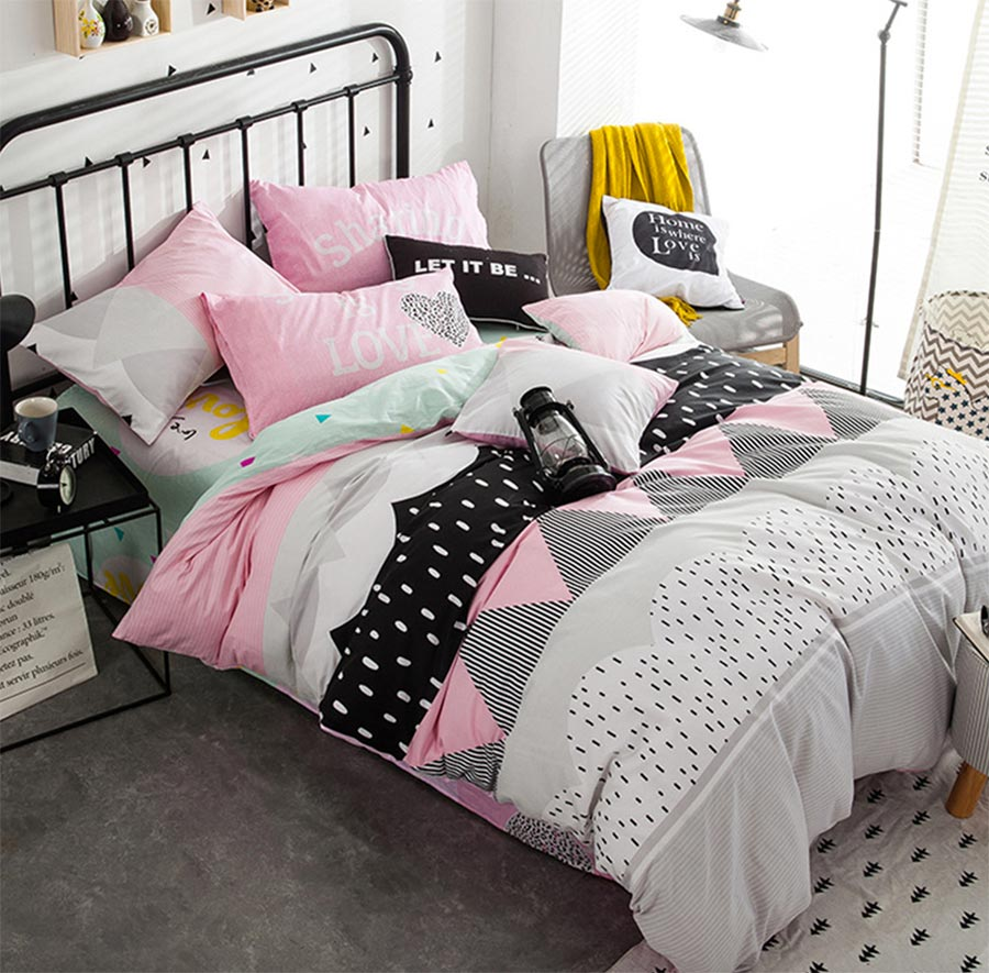 popular teen bed comfortersbuy cheap teen bed comforters lots  - modern geometric bedding set adult teen kidcotton full queen fashiondouble home textiles bed