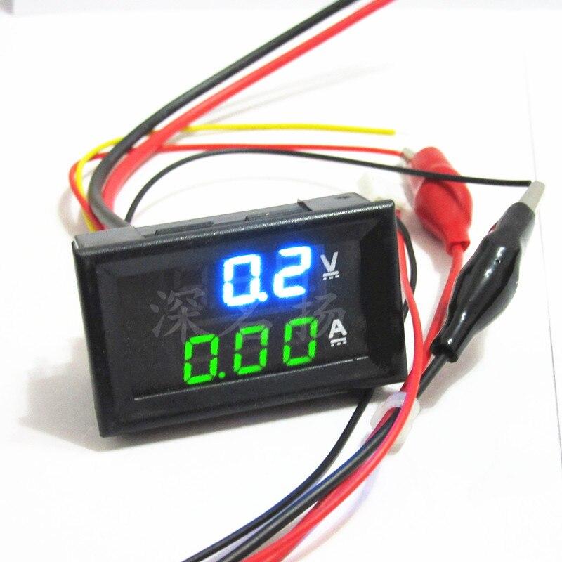 Бесплатная доставка 0,28 дюймовый светодиодный цифровой вольтметр Амперметр постоянного тока 100В 1А 10А 50А 100А Амперметр/амперметр