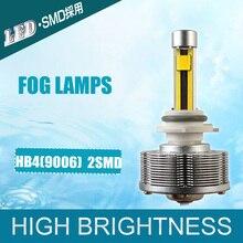 Новый Дизайн HB4 9006 LED Автомобильные Грузовики Противотуманные фары HB4 СВЕТОДИОДНЫЕ Автомобилей Источник Света 9006 Лампы Яркий Золотой 3000 К оптовая