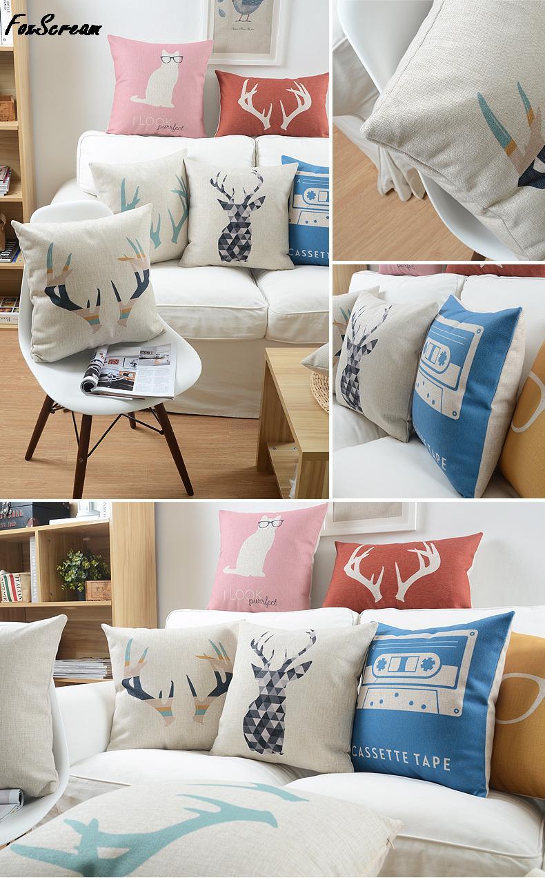 Скандинавский стиль подушки домашнего декора Подушка животных Чехлы наволочка Офис Декоративные подушки броска