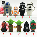 Full capacity pendrive USB Plastic thumb Personality  Darth Star Wars Yoda cartoon USB stick 4GB/8GB/16GB/32GB Gift flash drive