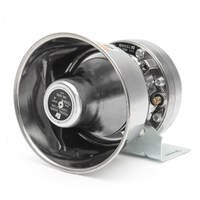 Safurance 200W 12V Loud Speaker Car Horn Siren Warning Alarm Stainless Steel Home Security Safety