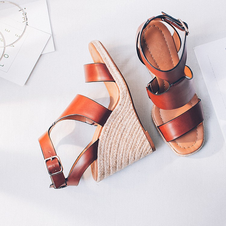 2017 Genuine Leather Women sandals wedges shoes platform wedges sandals High Heels Women Sandals Summer Heels Gladiator phyanic 2017 gladiator sandals gold silver shoes woman summer platform wedges glitters creepers casual women shoes phy3323
