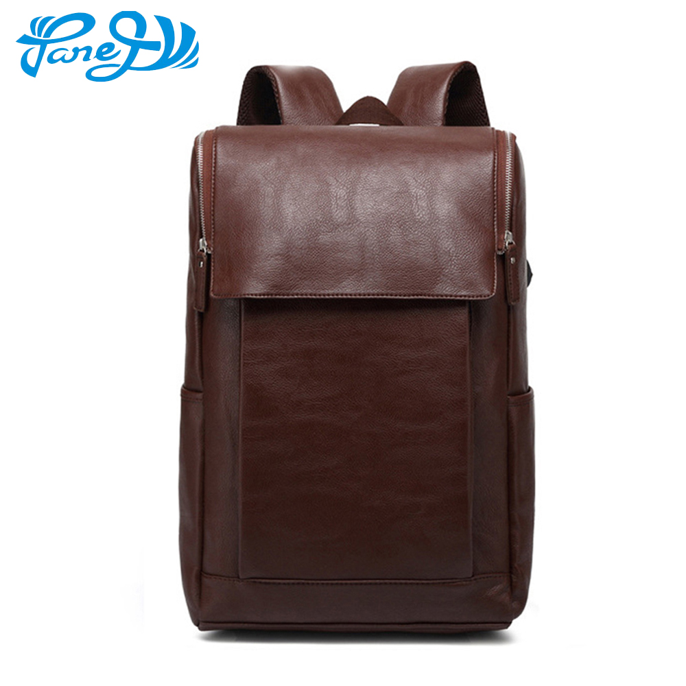 New Men Backpack For 14 inch Laptop Backpack Large Capacity Travel Bags Male Casual Leather Rucksack Student School bags kpop graffiti printing backpack city night scene large capacity travel student backpack school bags rucksack backpack mochilas