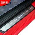 Accesorios Car Styling para Hona Civic 2012-2015 led auto protector de umbral de la puerta iluminada umbral de la puerta placa del desgaste guardia