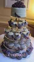 5 Tier Large Maypole Wedding Acrylic Cupcake Stand Tree Tower Cup Cake Display: Kitchen Dining wedding decoration