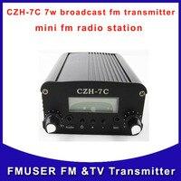 CZH 7C 7w broadcast fm audio radio transmitter silver black fm radio station for meeting