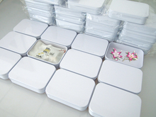 Size:109*80*25mm white tin box candy metal case usb  mobile phone cable packing
