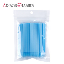 Light Blue Disposable Makeup Brushes Swab Microbrushes Eyela