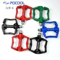 POCOOL LCW 6 Super light hollow MTB bike pedals mountain road cycling bicycle foot pedaling CNC sealed bearing footrest pedal